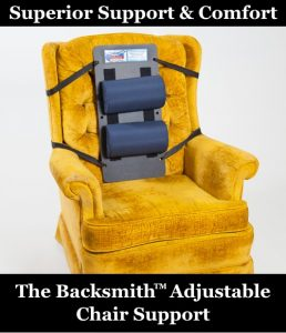 The Backsmith Adjustable Chair Support